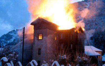 Brand in historischem Wohnhaus in Mörel